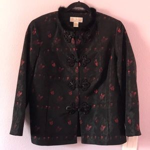 Vintage black/red Elana jacket
